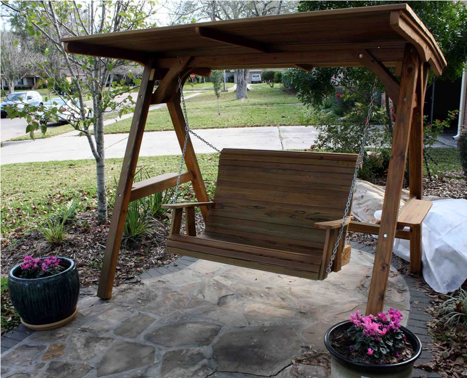 Image of: Simple Patio Swings