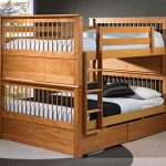 Solid Wood Bunk Bed for Adults