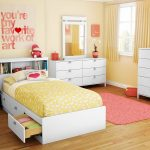 Solid Wood Twin Bed and Bookcase