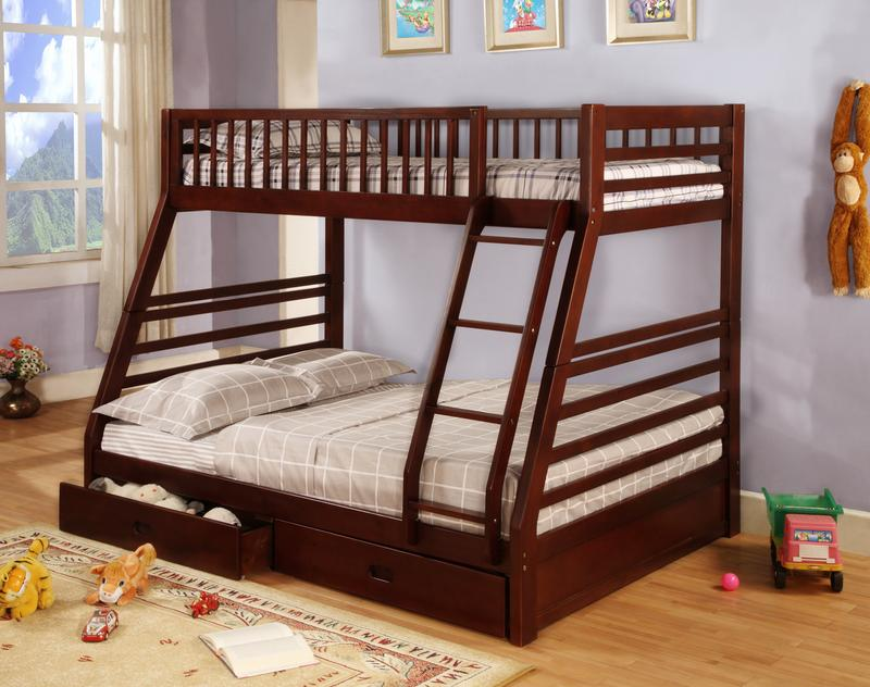 Storage Bunk Beds Twin over Twin
