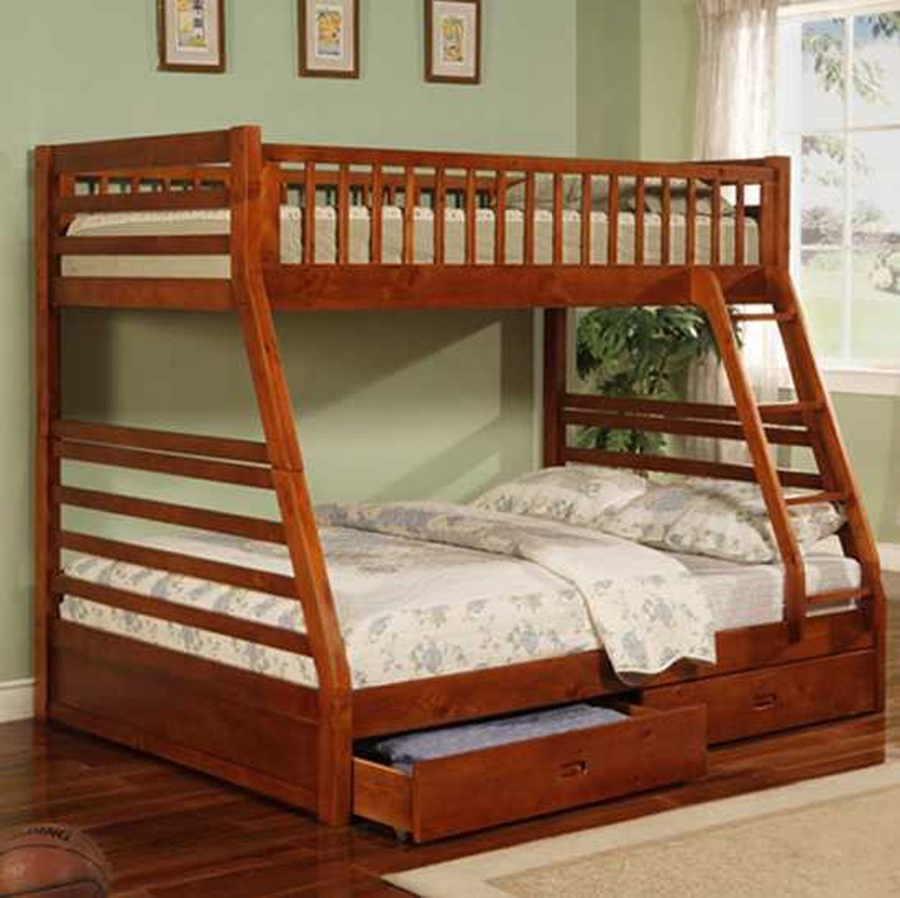 Image of: Style Twin Full Bunk Beds With Stairs