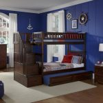 Style Twin Over Twin Bunk Beds With Stairs