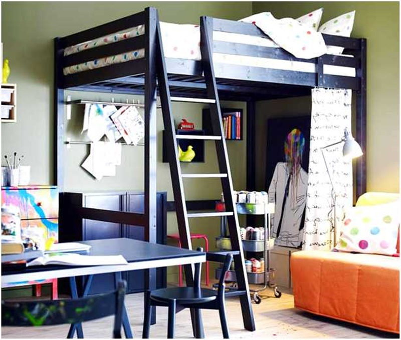 Image of: Top Ikea Svarta Loft Bed
