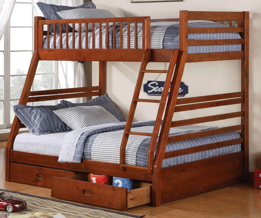 Image of: Top Twin Full Bunk Beds With Stairs