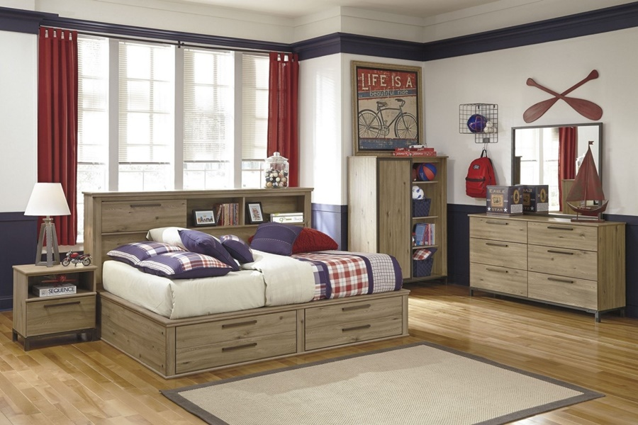 Image of: Twin Bed Frames With Storage Designs