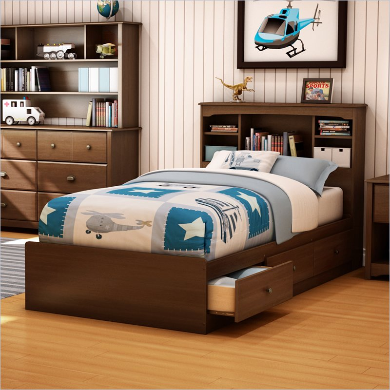 Image of: Twin Bed Frames With Storage For Boys