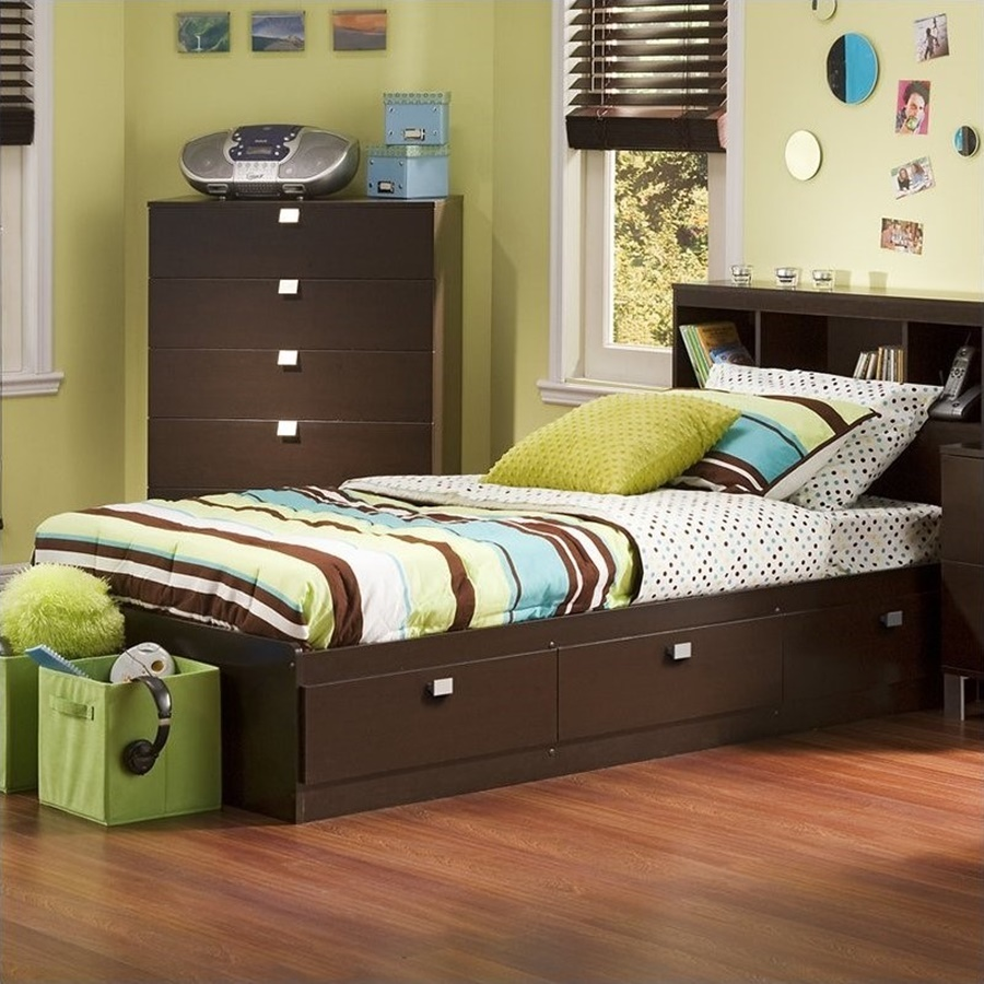 Image of: Twin Bed Frames With Storage Pictures