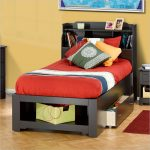 Twin Bed Frames With Storage With Bookcase Headboard