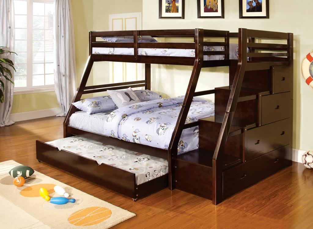 Image of: Twin Trundle Beds Black Wood