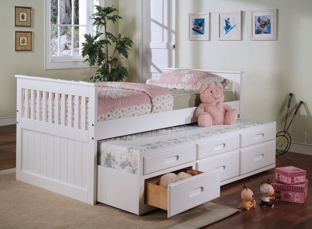 Image of: Twin Trundle Beds Pink