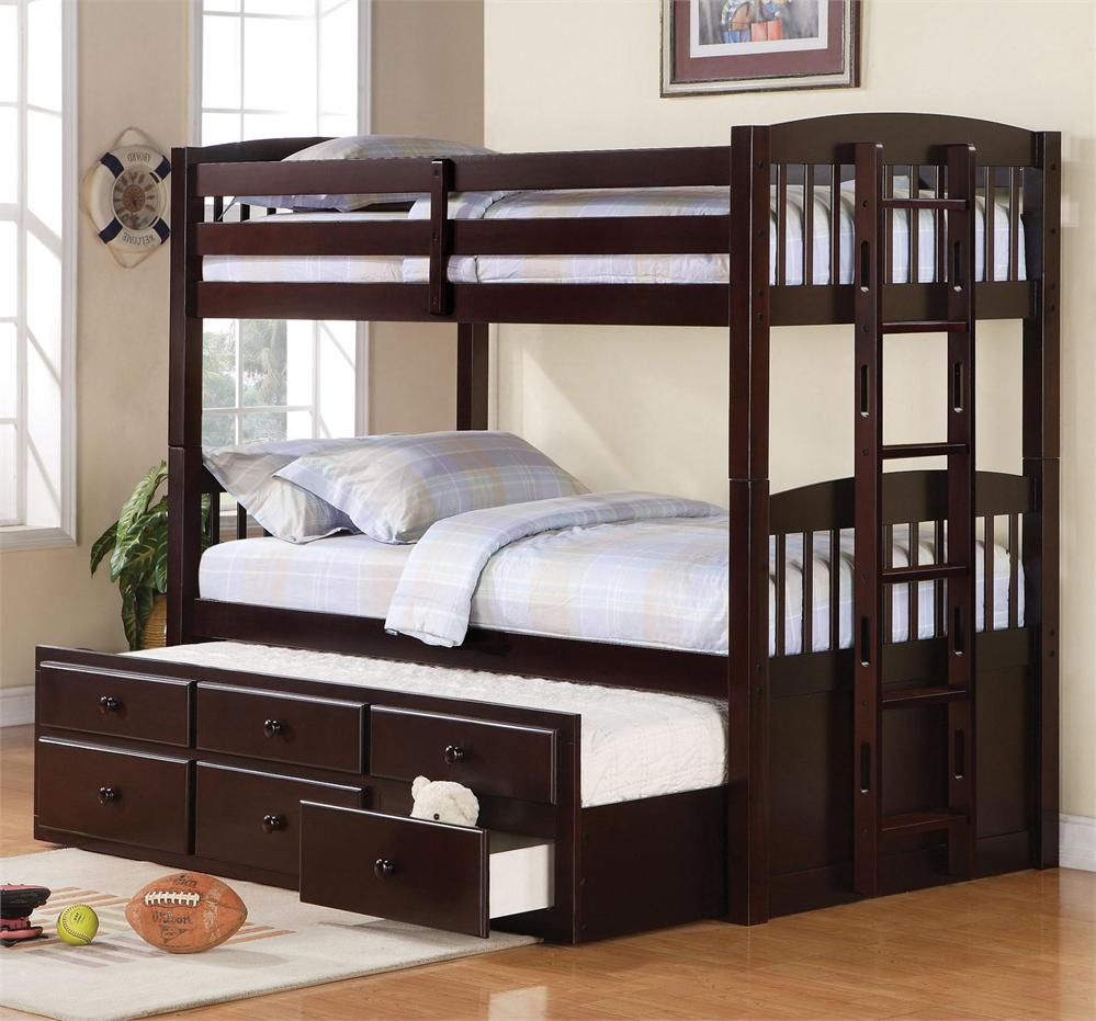 Twin Trundle Beds White Brown