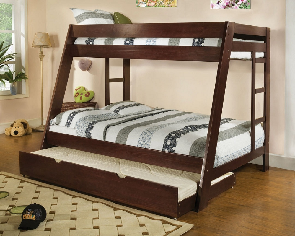 Twin Trundle Beds Wood Brown