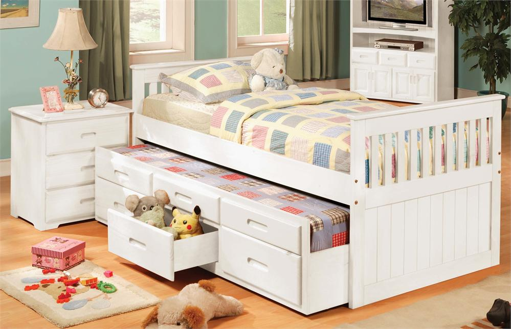 Image of: Twin Wood Bed Frame Girls