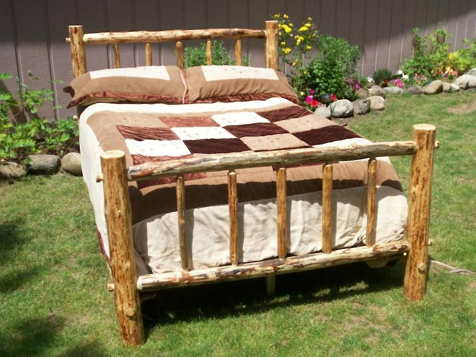 Image of: Twin Wood Bed Frame Natural Wood