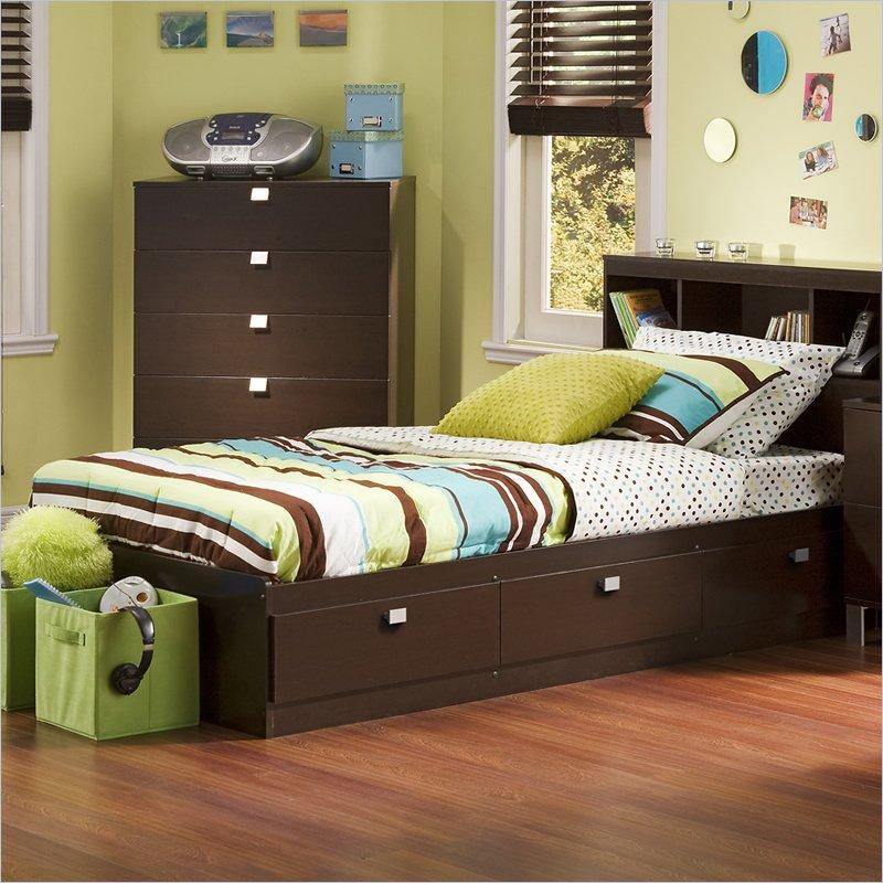 Image of: Twin Wood Bed Frame Playfull