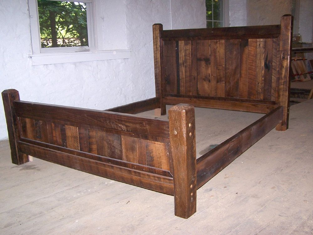 Image of: Twin Wood Bed Frame Rustic