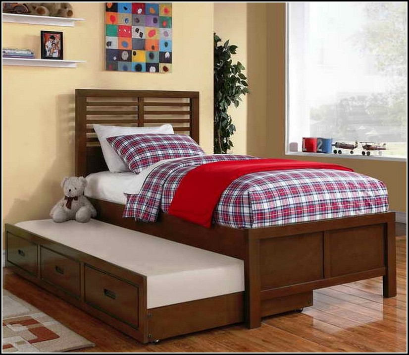 Image of: Twin Wood Bed Frame XL