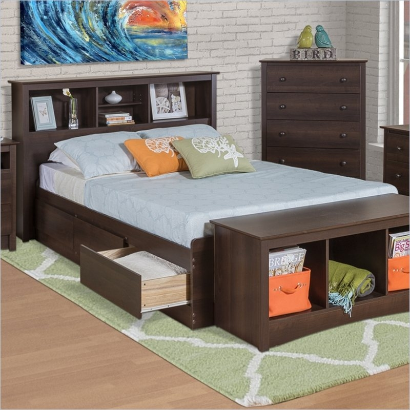 Image of: Twin Xl Beds Bookcase