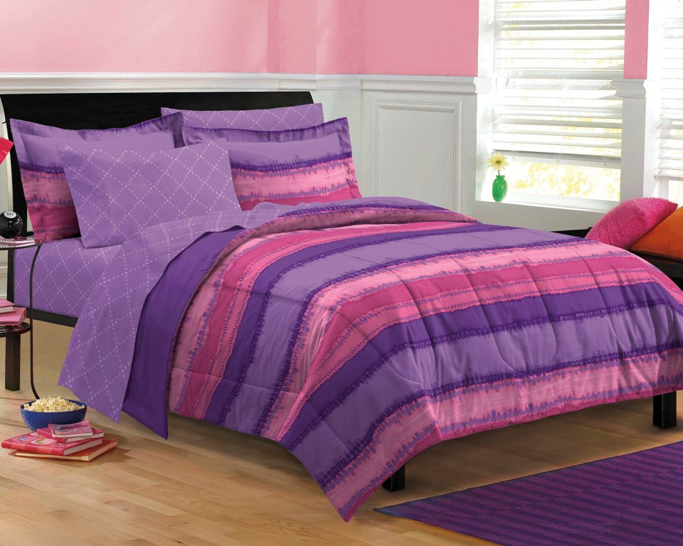 Image of: Twin Xl Beds Pink Purple