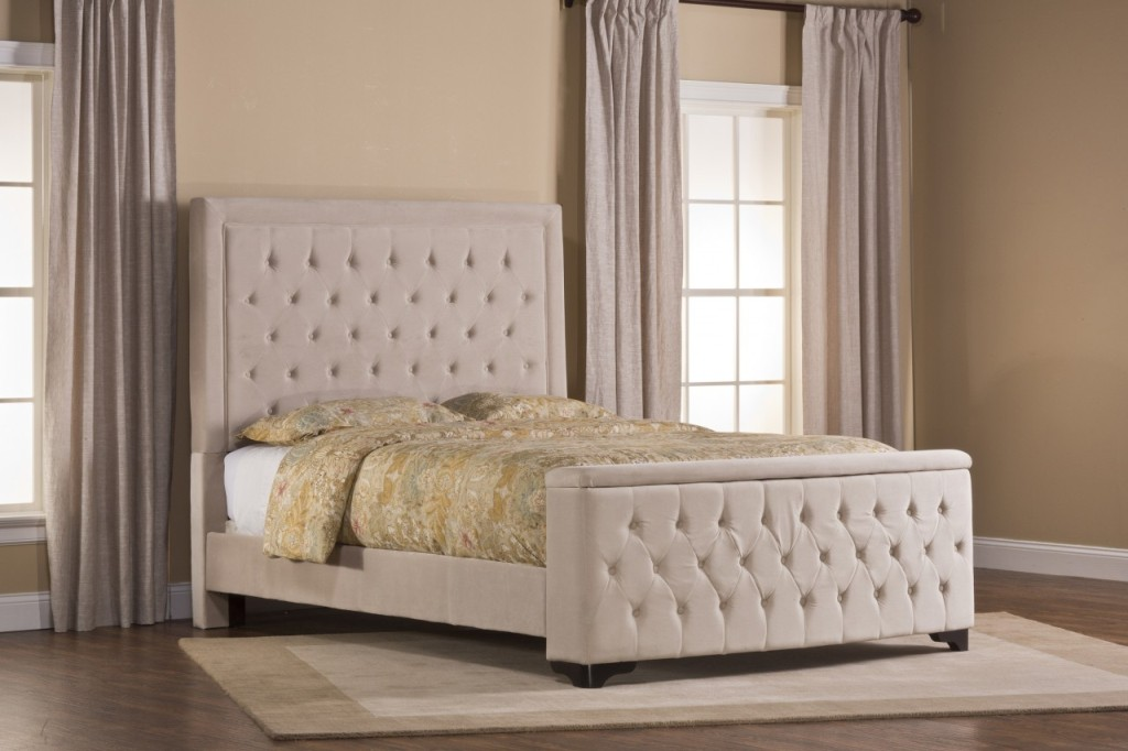 Image of: Upholstered King Bed Picture