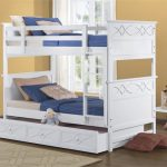 White Bunk Beds Twin over Twin
