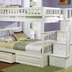 White Full Size Bunk Bed