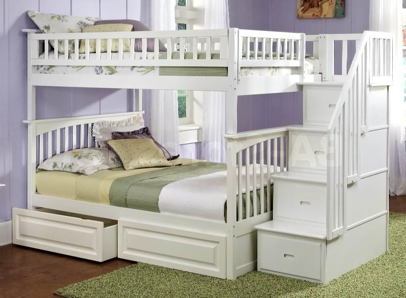 Image of: White Full Size Bunk Bed