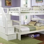 White Stair Bunk Beds