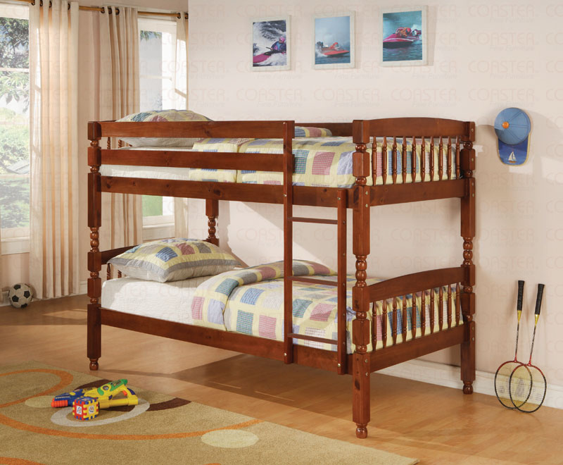 Image of: Wood Bunk Beds Twin over Twin