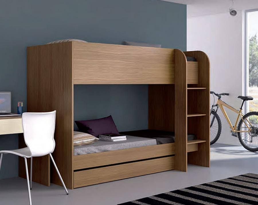 Image of: Wood Modern Bunk Bed