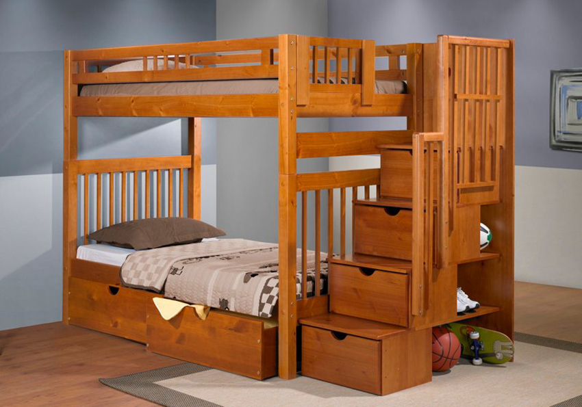 Wooden Bunk Bed Stairs