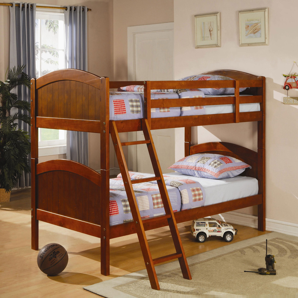 Image of: Wooden Bunk Beds Twin over Twin