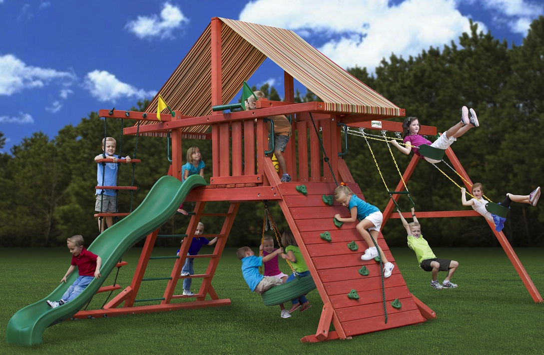 Image of: Wooden Outdoor Playsets