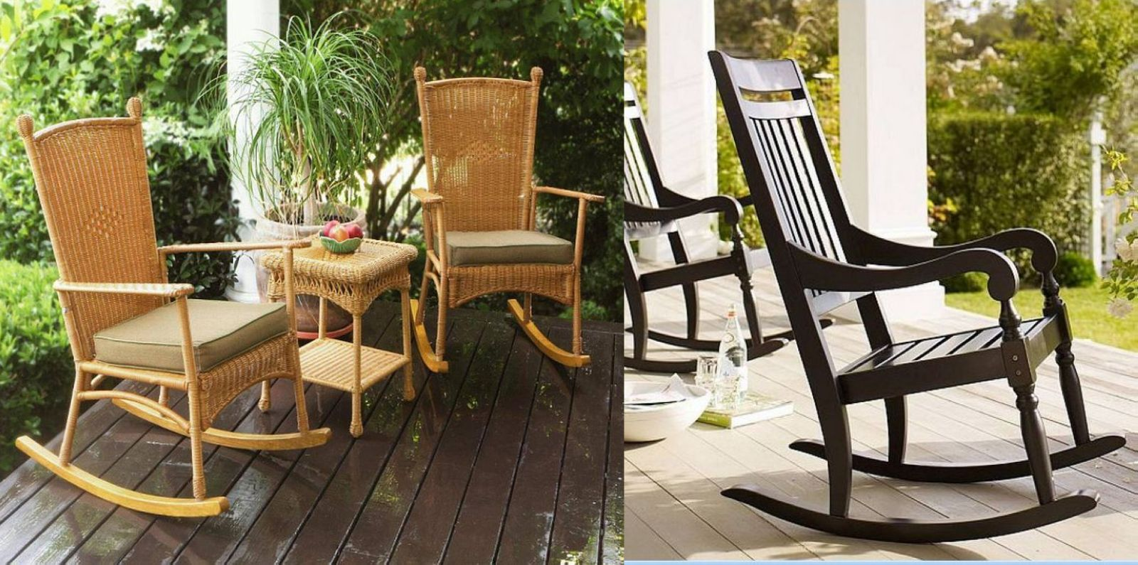 Image of: Wooden Outdoor Rocking Chair