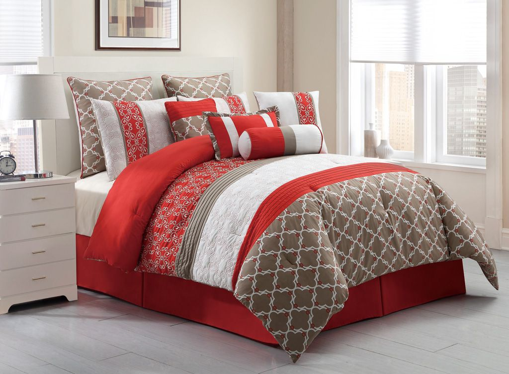 Image of: Bedding Sets Queen Red