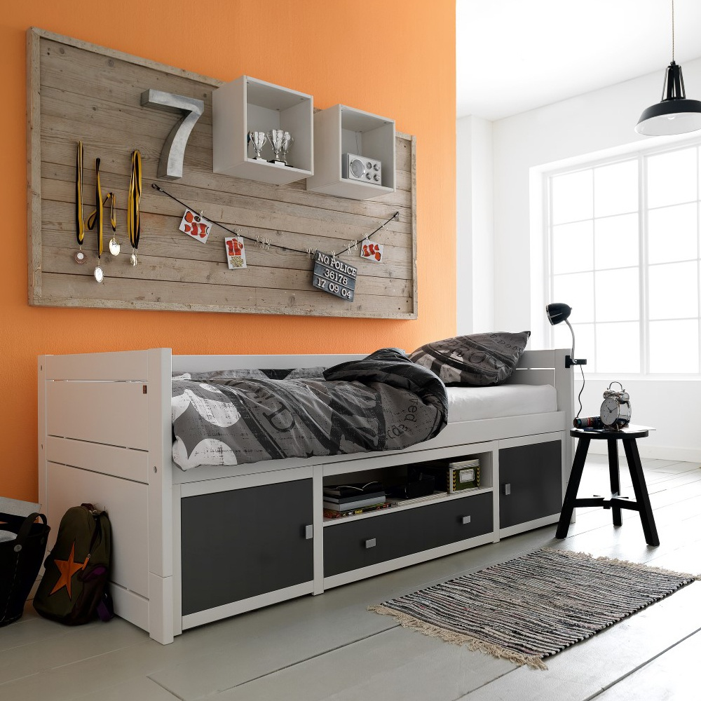 Image of: Boy Bunk Bed with Desk and Couch