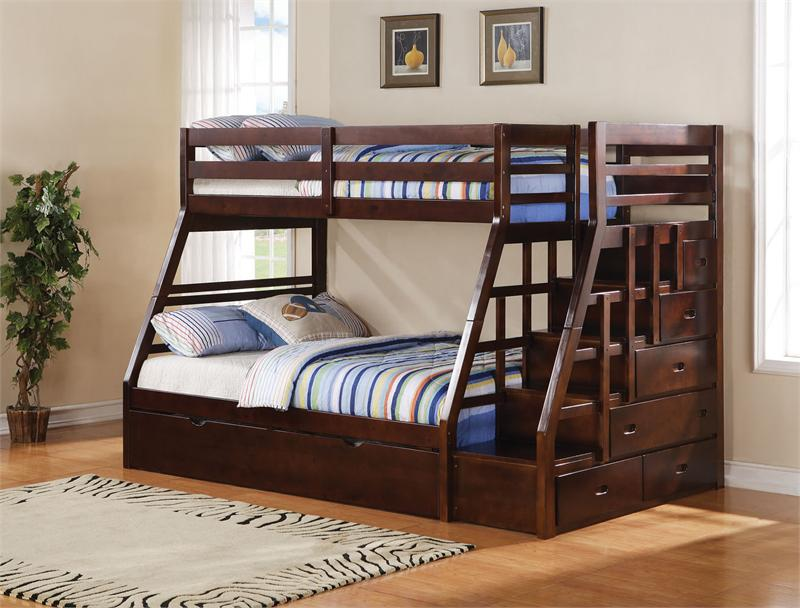 Image of: Bunk Bed Twin Over Full Stair