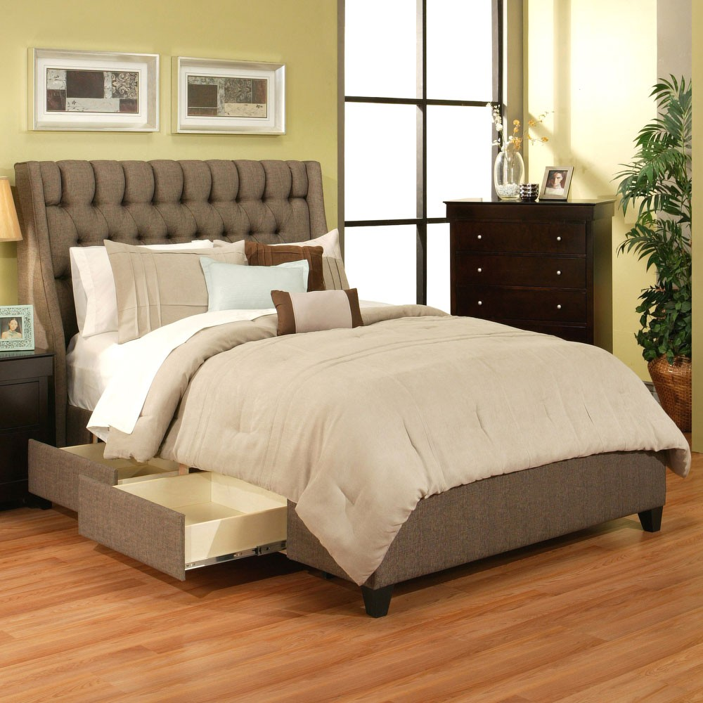 Image of: California King Headboards Storage