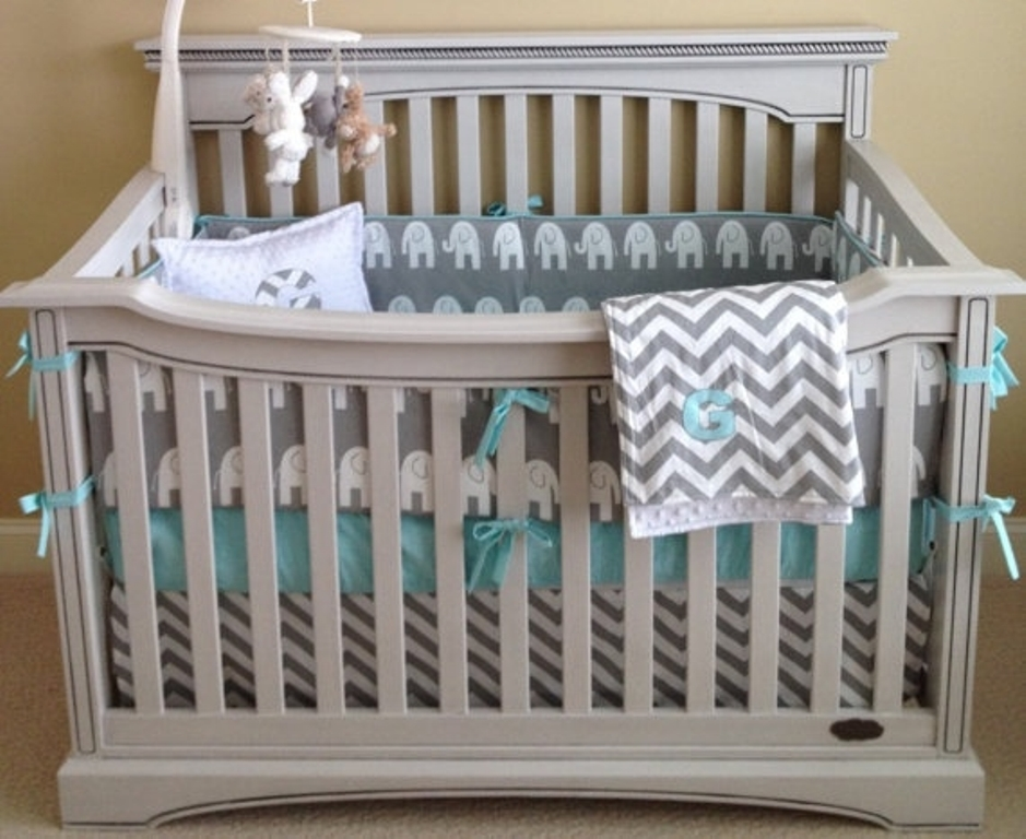 Image of: Chevron Baby Bedding Boy