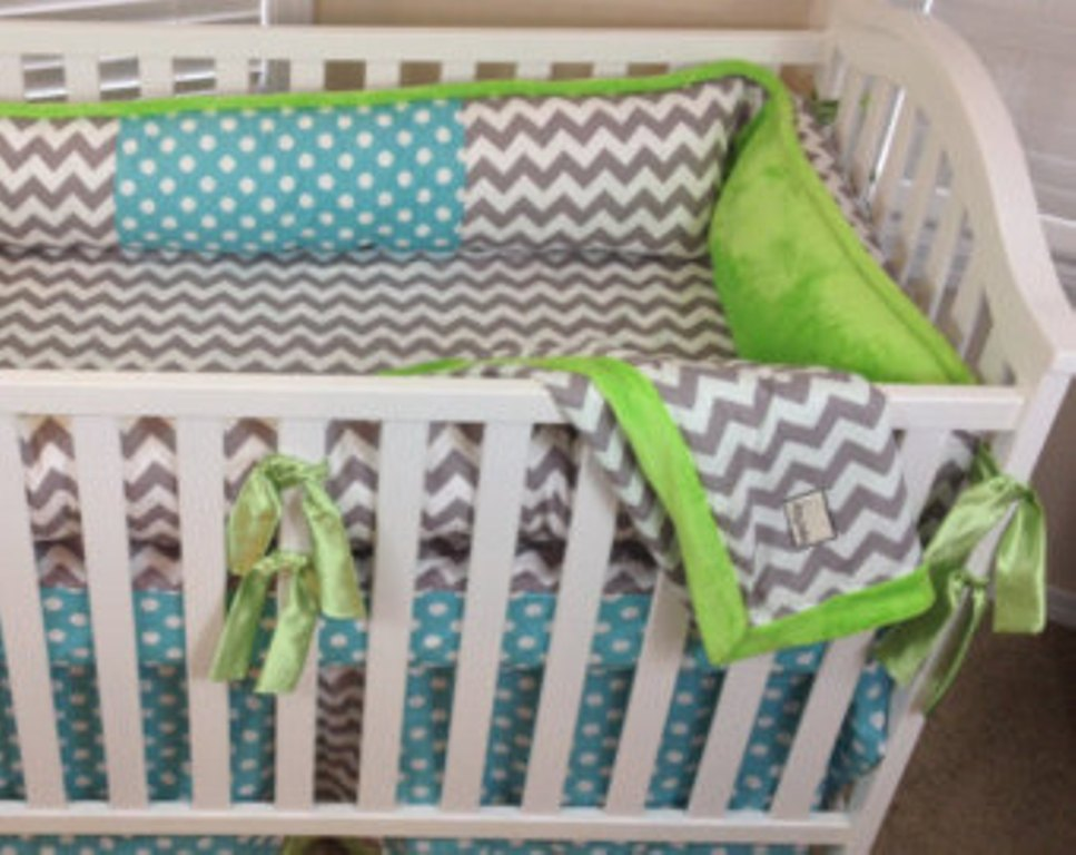 Image of: Chevron Baby Bedding For Boys