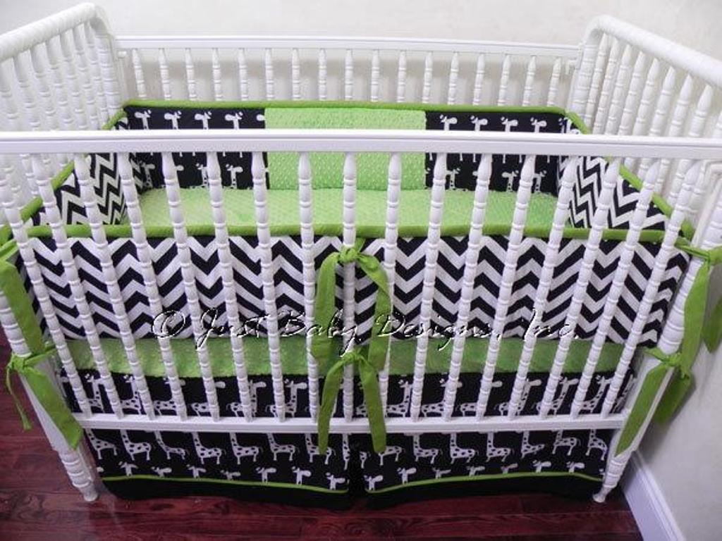 Image of: Chevron Baby Bedding For Girls