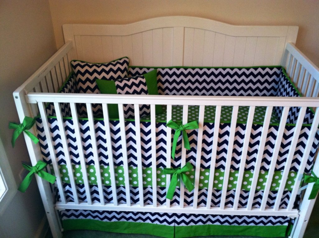 Image of: Chevron Baby Bedding Girl