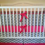 Chevron Baby Bedding Grey and White Color