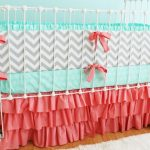 Chevron Baby Bedding and Mint