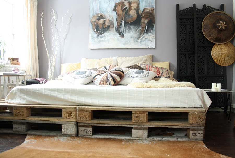 Image of: Cool Beds Made Out Of Pallets