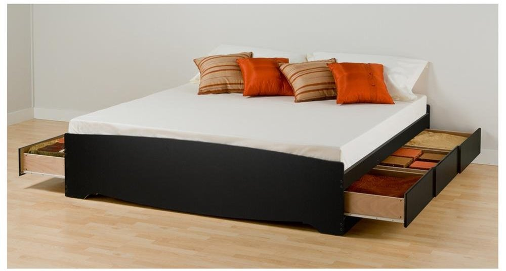 Image of: Cool King Size Storage Bed
