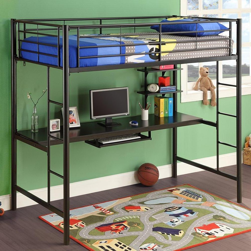 Image of: Creating Bunk Bed with Desk and Couch