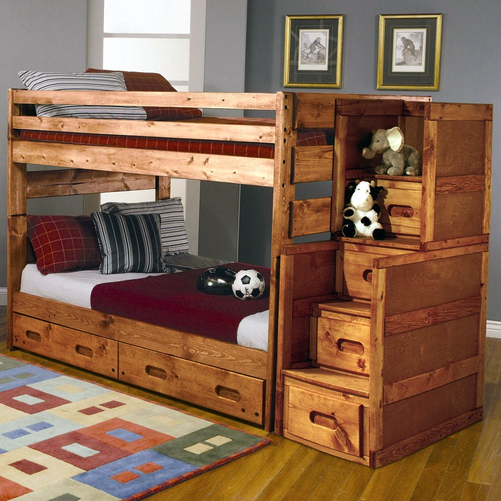 Image of: Creating Queen Size Bunk Beds