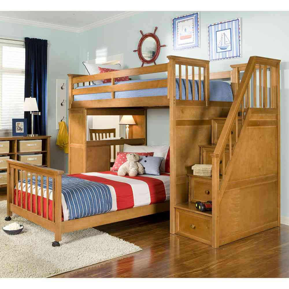 Image of: Custom Bunk Bed with Desk and Couch