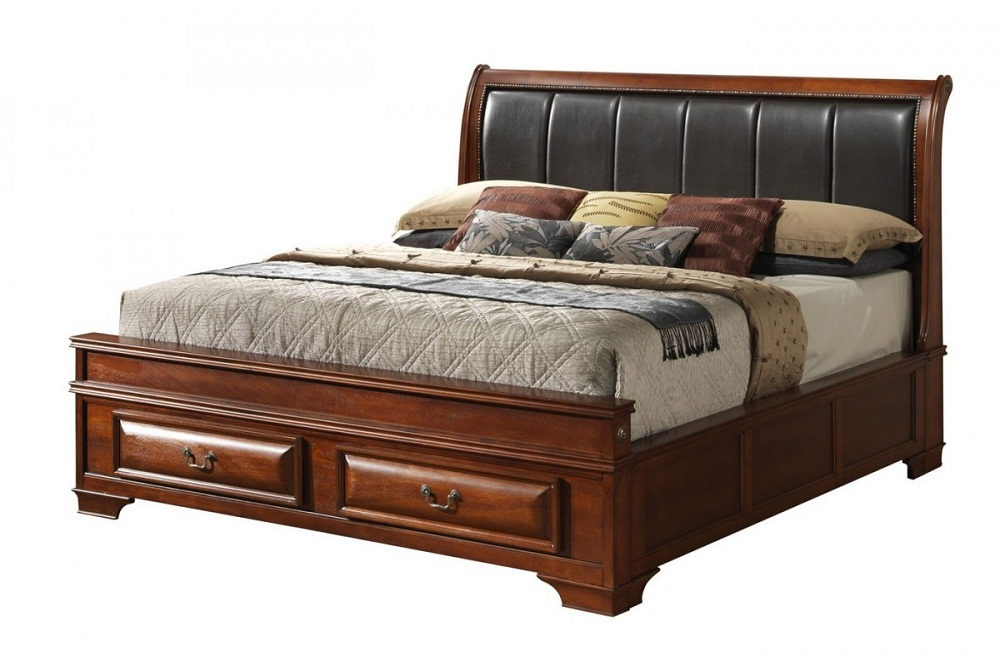 Image of: Cute King Size Storage Bed